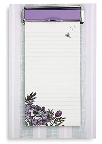Vera Bradley Small Memo Clipboard with Lined Notepad, Lavender ()