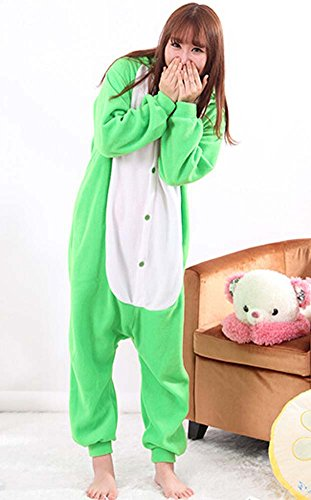 Clothes Comfortable Rabbit Unisex Home Hooded Green Animal Men's Suitable Ladies For Cute Pajamas 78dvx