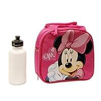 1 X Bolsa de fiambrera de Disney Minnie Mouse con correa para el hombro y botella de agua
