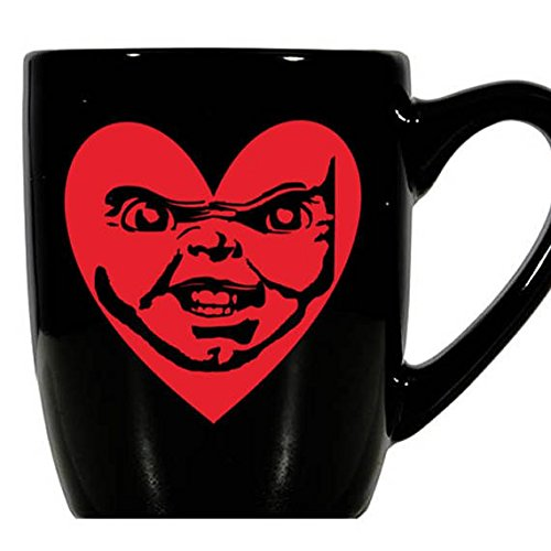 Child's Play Chucky Bride Seed Curse Cult of Valentine's Day Love Heart Horror Mug Coffee Cup Gift Home Decor Kitchen Halloween Bar