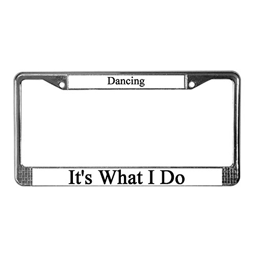 license plate frame dancer - 2