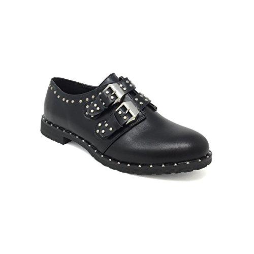 Damen Schnürhalbschuhe schwarz jeck'o shoes Schwarz Hwa7X5q0q