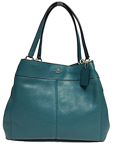 Coach F57545 Lexy Pebble Leather Shoulder Bag (Dark Teal) (Coach Purse Outlet)