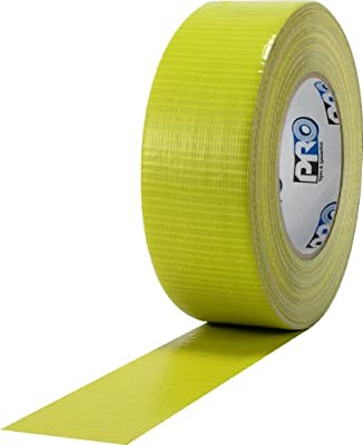 "ProTapes Pro Duct 110 PE-Coated Cloth General Purpose Duct Tape, 60 yds Length x 2"" Width, Yellow (Pack of 1)"