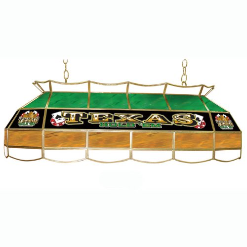 Trademark Texas Hold 'em Stained Glass 40-inch Lighting Fixture ()