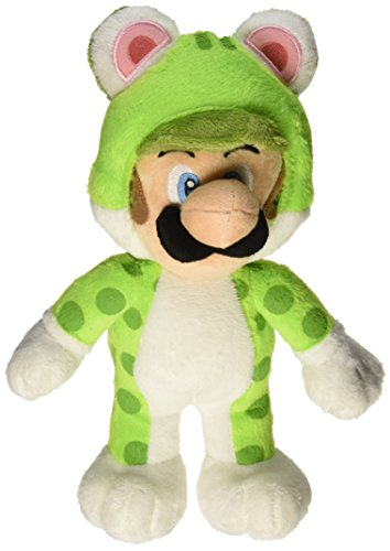 Little Buddy Super Mario Neko Cat Luigi Plush, 10