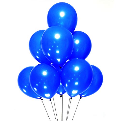 (AZOWA Royal Blue Latex Balloons 12 inch Party Balloon Decorations Pack of 100 Helium Balloons Great for Kids Adult Birthday Party Wedding Baby Shower Decorations)
