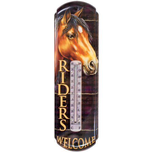 River's Edge Products Riders Welcome Tin Thermometer
