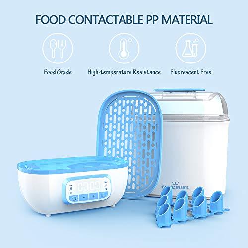 41dFnIBOnnL - Eccomum Baby Bottle 𝘚𝘵𝘦𝘳𝘪𝘭𝘪𝘻𝘦𝘳 And Dryer, LED Touch Screen, 360° Steam 𝐃𝐢𝐬𝐢𝐧𝐟𝐞𝐜𝐭𝐢𝐨𝐧 & Drying, Super Large Capacity, HEPA Filter, Homemade Dried Fruit