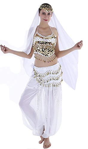 Seawhisper Genie Halloween Costumes Adult Women Aladdin Costume Jasmine (Jasmine Aladdin Halloween Costumes)