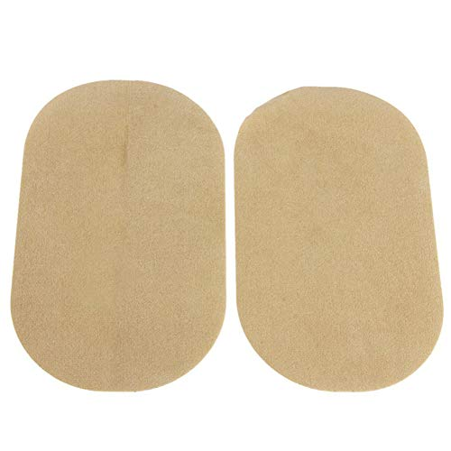 1 Pair PU Leather Oval Sew-on/Iron-on Patch Iron-on Repair Kit for Clothes Dress Plant Hat Jeans Sewing - Light Tan Household products Sewing machines and accessories and sewing tools