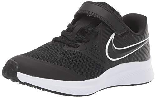 Nike Boys Star Runner 2 (PSV) Sneaker, White-Black-Volt, 1.5Y Child US Little Kid (Kids Nikes Running Shoes)
