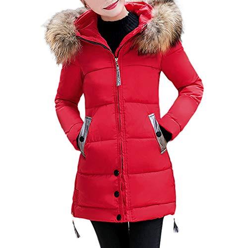 Women Ladies Slim Hooded Down Padded Long Winter Warm Parka Outwear Jacket Coat Duseedik