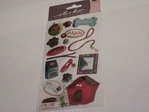Sticker Scrapbooking Crafts Sticko Love Dog House Best Friend Food Treats ()