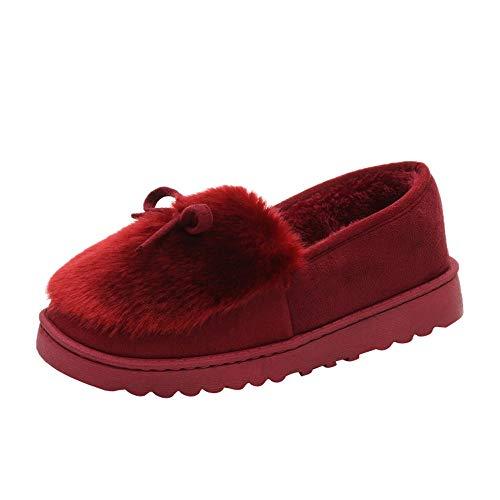 luckygirls Hiver Chaussures De Neige Nouveau 40 Automne Chaudes D'hiver Bottes Femmes Peluche Vin Femme Mode Bottines 35 7tAHqndxw0