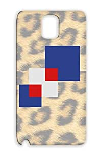 Square Pattern Navy Case Cover For Sumsang Galaxy Note 3 Durable Symbols Shapes Squares