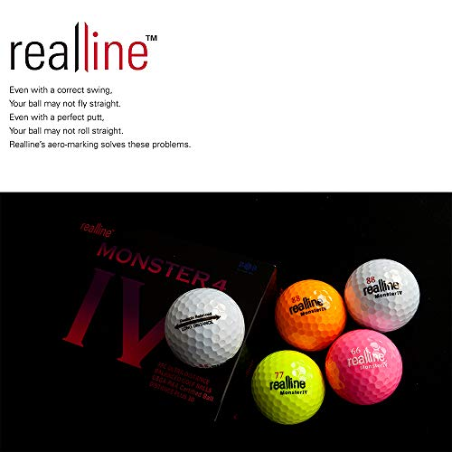 realline Monster 4 Golf Ball Ultra Distance for Driver ...