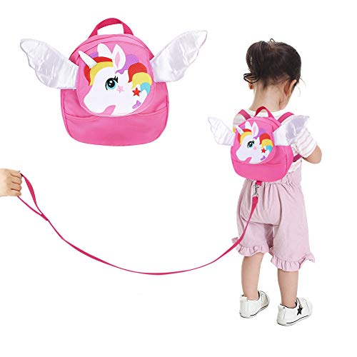 Accmor Toddler Harness Backpack, Unicorn Anti-Lost Baby Backpack Leash, Mini Child Safety Harness Backpack with Removable Reins for Boys Girls, Lightweight