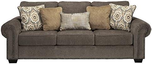 Benchcraft - Emelen Contemporary Sofa Sleeper - Queen Size Bed - Alloy Gray