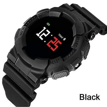 ZCPWJS Pulsera Inteligente MX Reloj Inteligente Hombres Mujeres Rastreador de Fitness Bluetooth Reloj de Presión Arterial