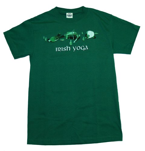 Irish Yoga Green Adult Shirt
