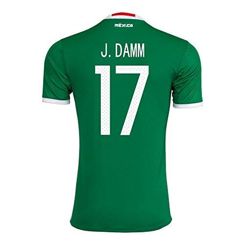 d2fa965458e cheap J. Damm  17 Mexico Home Jersey Copa America Centenario 2016 ...