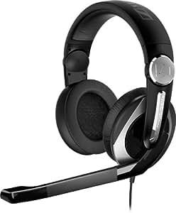 Sennheiser PC 333 D - Auriculares de diadema cerrados (con micrófono), negro