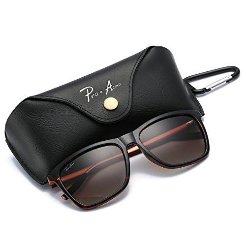 Pro Acme Hot Fashion Driving Polarized Sunglasses for Men Women Al-MG Metal Frame Ultra Light (Brown)