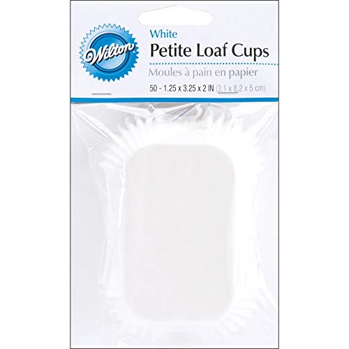 (Petite Loaf Cups-White 50/Pkg)