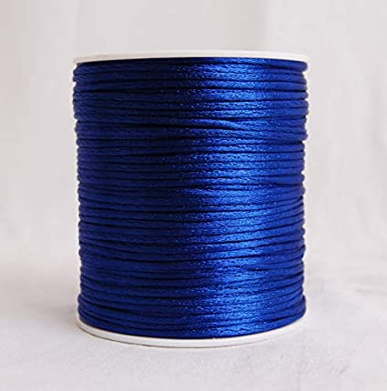 Craft And Party Rattail Satin Nylon Trim Cord Chinese Knot Royal Blue
