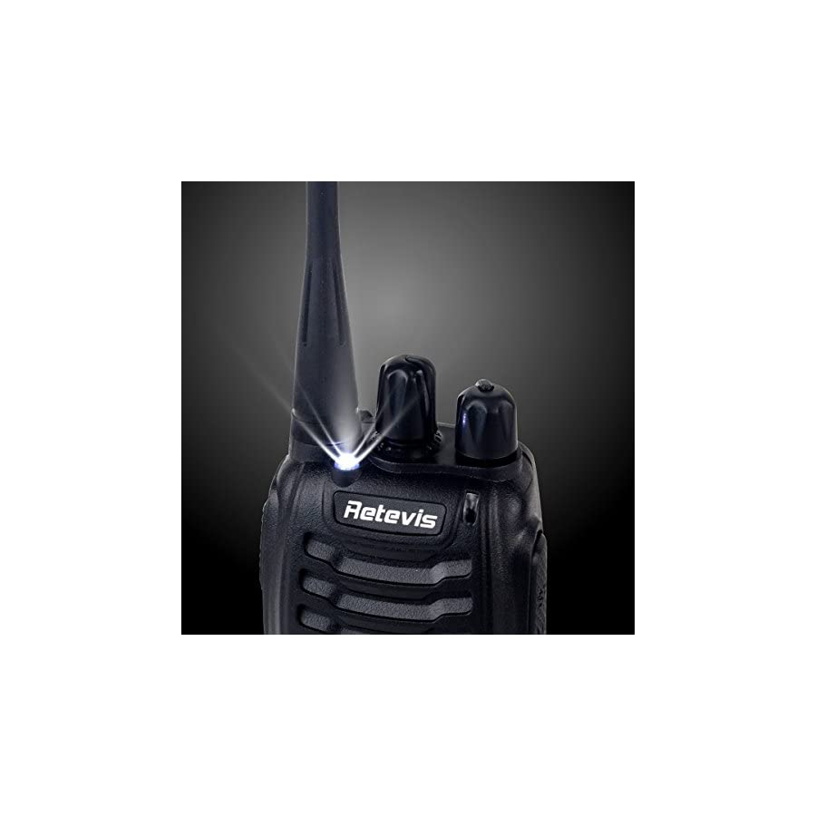 Retevis H 777 Two Way Radio UHF 400 470MHz 2 Way Radio Single Band Rechargeable 16 CH Walkie Talkies (10 Pack)
