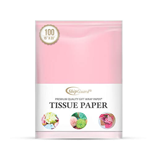 ShipGuard Light Pink Tissue Paper for Gift Bags