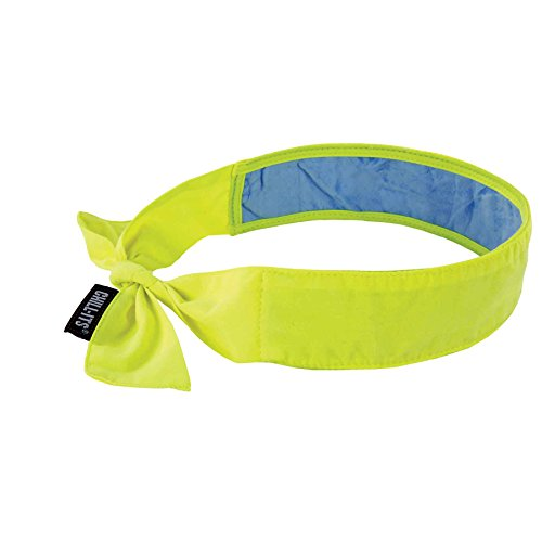 Ergodyne Chill-Its 6700CT Evaporative Cooling Bandana - Tie Closure, Lime