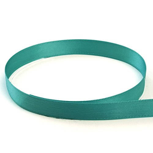 USA Made 1/4'' Pacific (Light Teal) Double Face Satin Ribbon - 100 Yards - (Multiple Widths, Yardages, Colors Available) by The Ribbon Factory