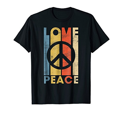 (LOVE PEACE FREEDOM T-Shirt 60s 70s Tie Dye Hippie Shirt)