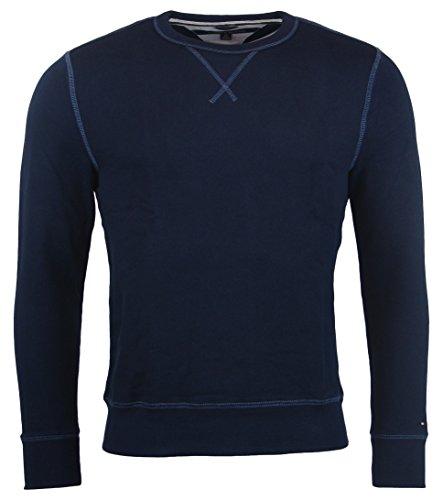 Tommy Hilfiger Mens Crewneck (Tommy Hilfiger Mens Crewneck Pullover Sweater/Sweatshirt - L - Navy)