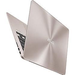 ASUS ZenBook UX310UA 13.3 Inch Full HD Flapship High Performance Laptop PC, Intel Core i7-6500U Dual-Core, 8GB DDR4, 256GB SSD, Backlit Keyboard, Windows 10, Rubedo Gold