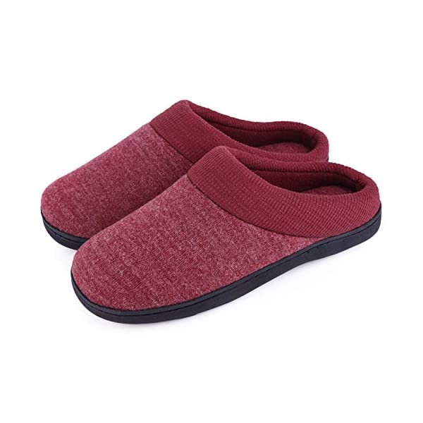 Women's Comfort Slip On Memory Foam Slippers French Terry Lining House Slippers w/Anti Slip Sole