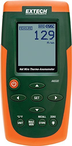 Extech AN500 Hot Wire CFM/CMM Thermo-Anemometer by Extech ()