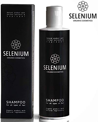 Shampoo by Selenium - Natural Organic shampoo with a Minerals Protein Vitamin Enzymes Herbal & Sapropel Extract Shampoo Anti Dandruff Soft Dry Itchy Scalp Psoriasis and Damaged Hair / 8.5oz