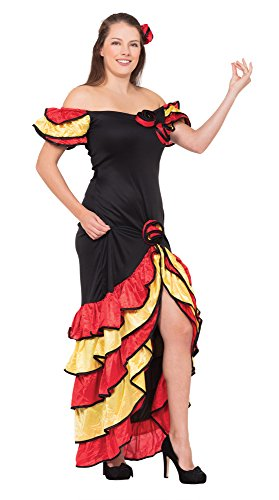 Bristol Novelty AC595 Rumba Woman Costume, UK Size -
