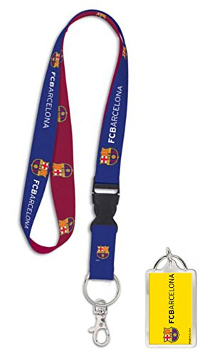 FC Barcelona Premium Lanyard Key Chain and Key Ring Gift - Barcelona Fc Chain