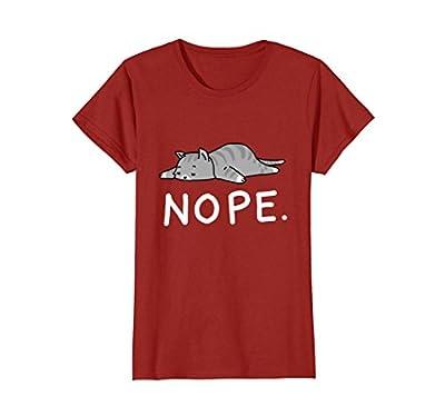 Lazy Day Procrastinate Grumpy Tired Cute Funny Cat Shirt