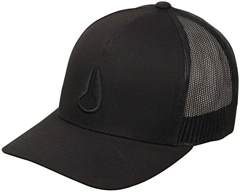 NIXON Unisex Iconed Trucker Hat Black/Black One Size - Nixon Black Hat