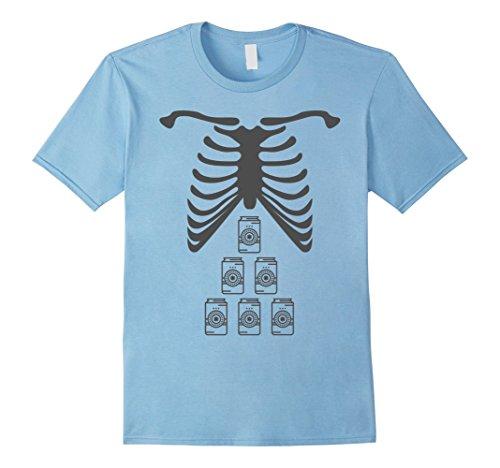Mens X-Ray Skeleton Beer Shirt - Halloween Rib Cage Costume Gift 2XL Baby (Baby Carrying Man Halloween Costume)