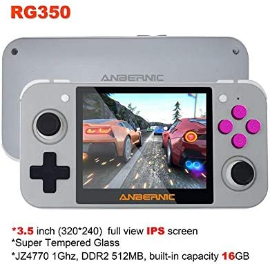 QAHEART Handheld Game Console,RG350 Retro Game Console Tony System,Portable Video Game Console3.5 Inch IPS Screen,Stereo Speakers,Retro Game Console16G TF Card Built
