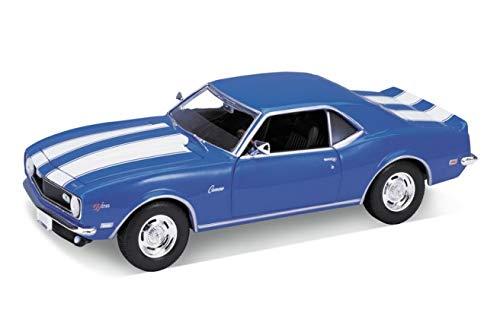 Chevrolet Camaro Z28, blue/white, 1968, Model Car, Ready-made, Welly 1:24