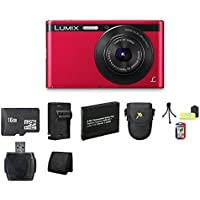 Panasonic Lumix DMC-XS1 16.1 MP Digital Camera (Red) Bundle 2