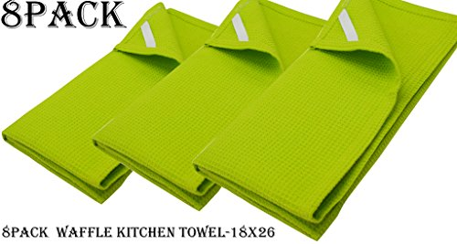 n Towels Lime Green 18x26 Inches- Pure Cotton, Absorbent Waffle Weave offered by Linen Clubs. ()