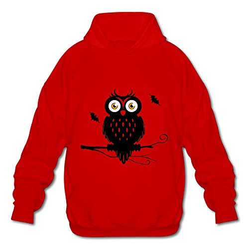 Boro Lin Men's Halloween Costume Ideas Owls Hoodies Size M Red for $<!---->
